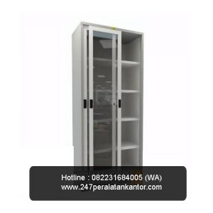 Steel Cupboard Pintu Sliding Kaca