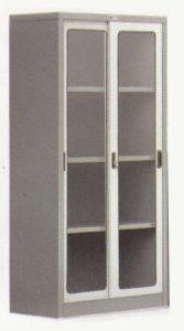 Lemari Arsip Sliding Glass Door 3 Shelfs Alba